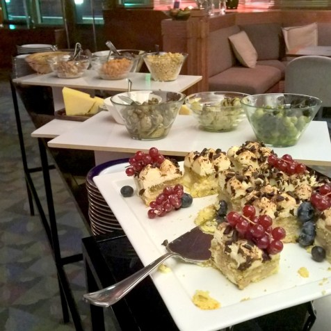 Nice little choice of deserts and starters at the Executive Lounge