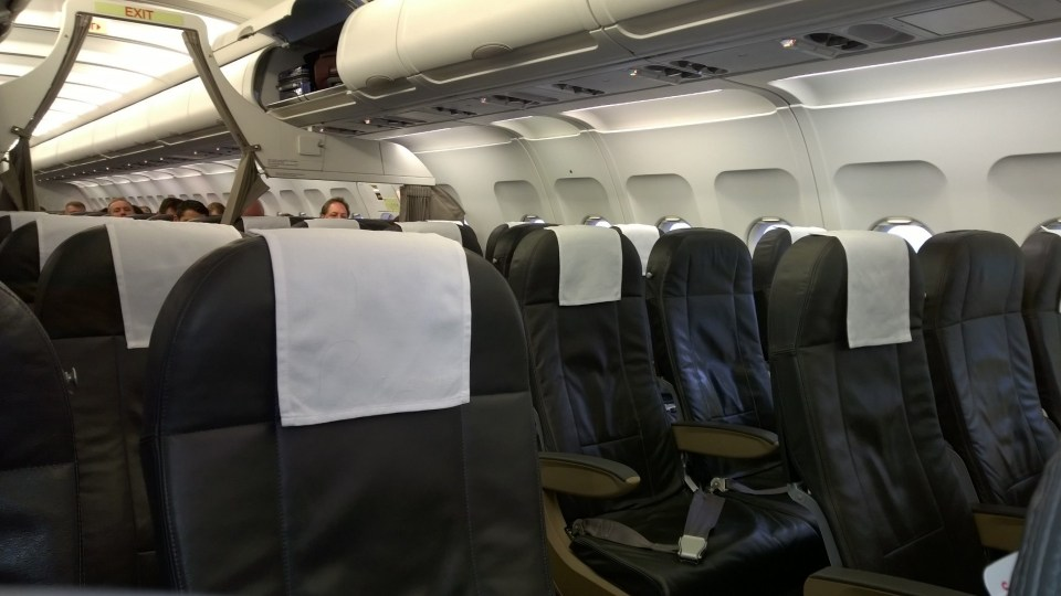 Seat arrangement in the Swiss Business Class