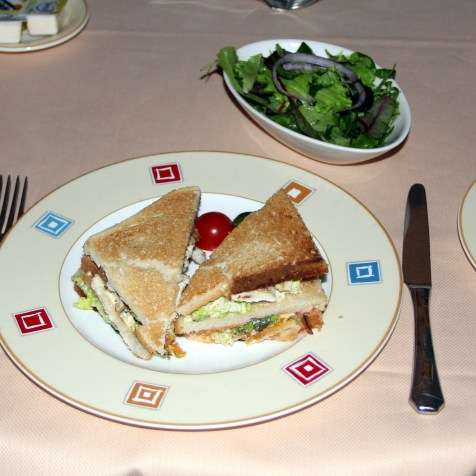 The Club Sandwich was just average