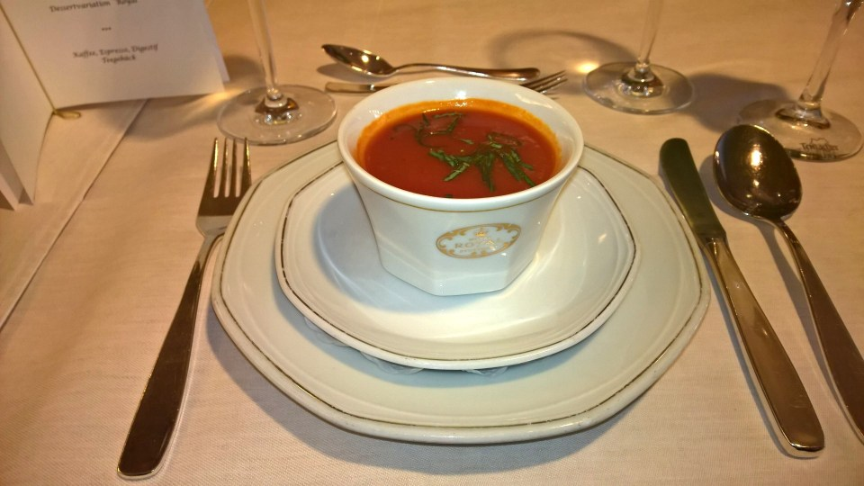 The starter: Tomato Cream Soup
