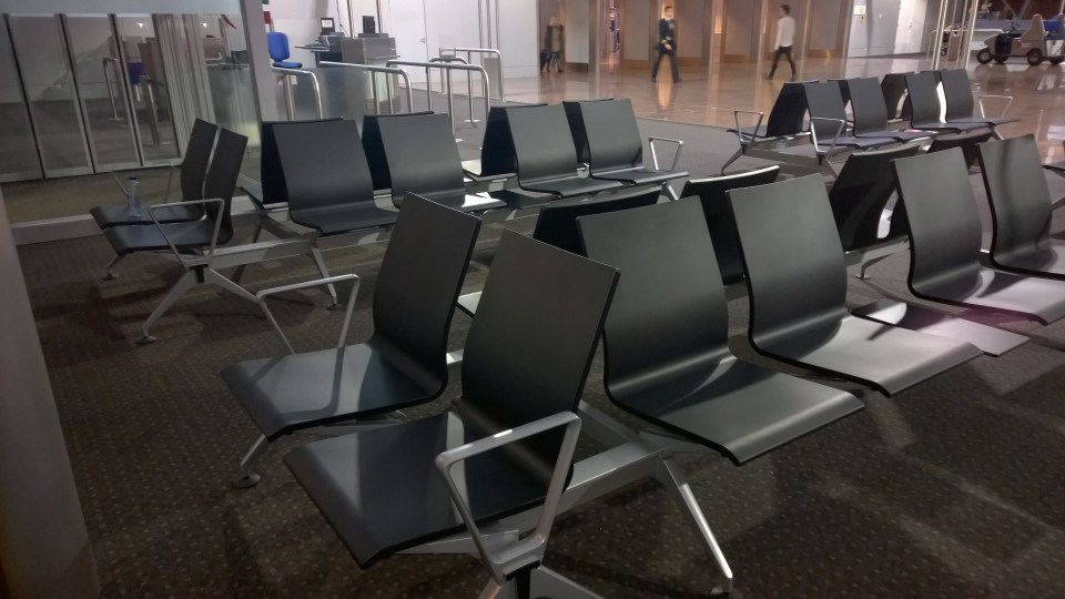 Not really good for sleeping: Brussels Airport has no sleeping areas