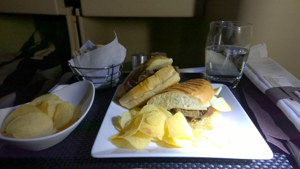 Etihad Airways Business Class Food
