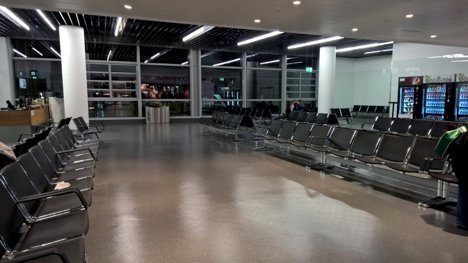 The seating areas at Vienna International Airport are not really good for sleeping