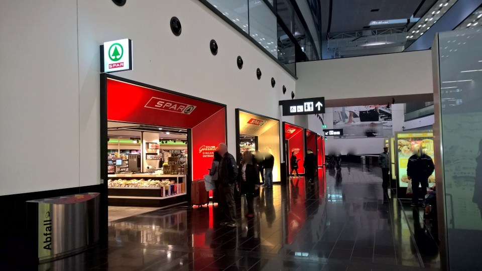 There are dozens of shops at Vienna International Airport
