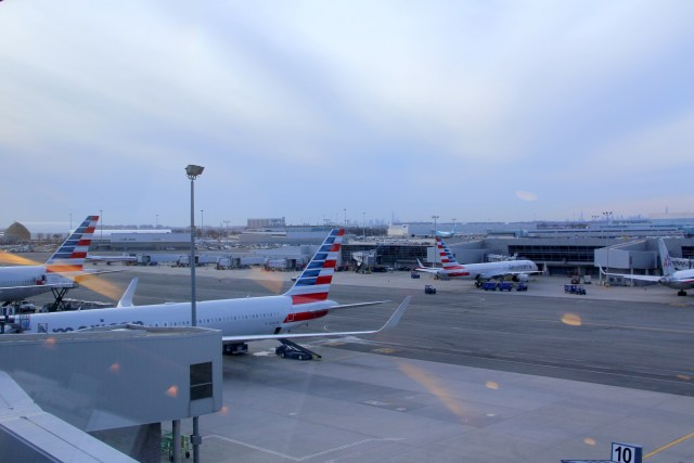 You can watch many large airplanes from the Admirals Club at the JFK AIrport