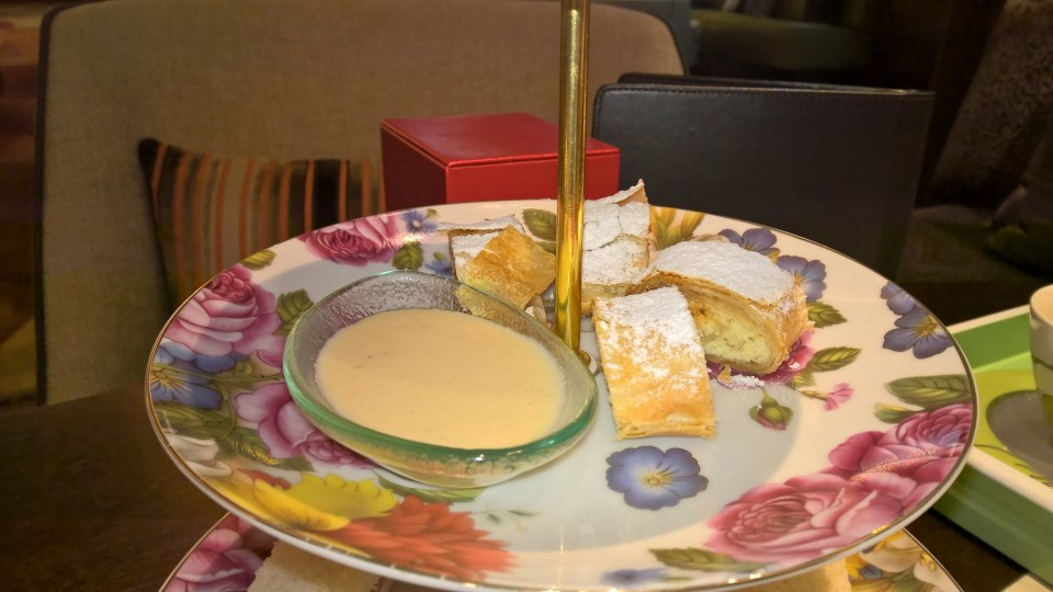 The apple strudel was the best part of our Afternoon Tea