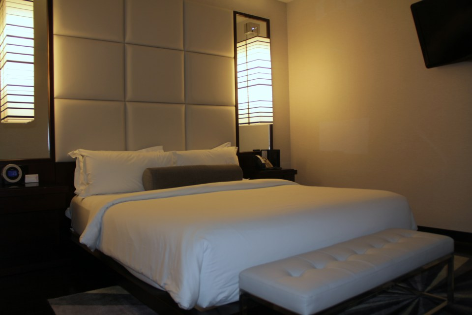 Bedroom of our King Suite at Ivy Boutique Hotel