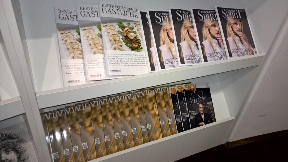 Jet Lounge Vienna Magazines