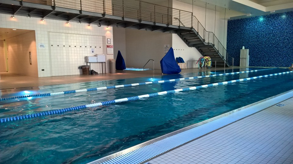 Swimming pool of LA Fitness Chicago