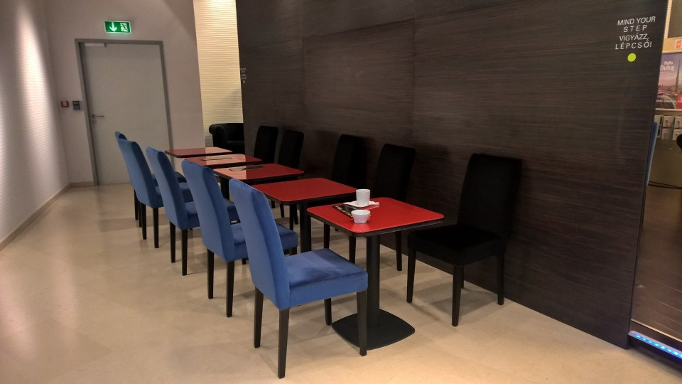 After the lobby, there is a small dining area