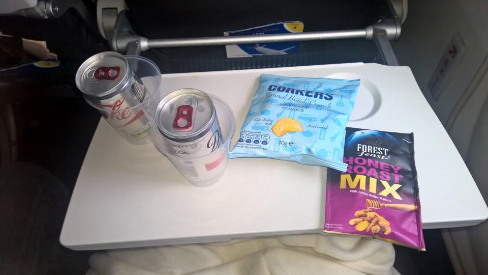British Airways A320 Food