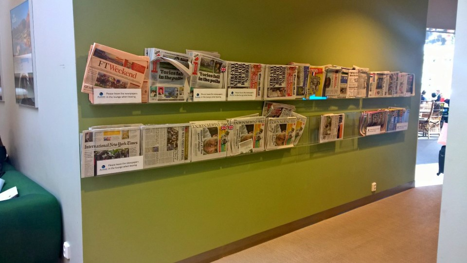 Choice of national and international newspapers