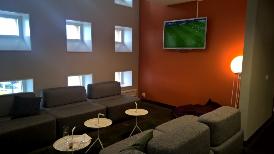Seating at Menzies Lounge is creative and relaxing