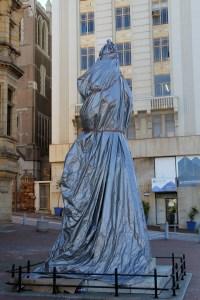 Covered Queen Victoria Statue Port Elizabeth