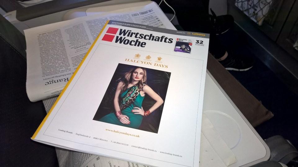Lufthansa A321 Business Class Magazines