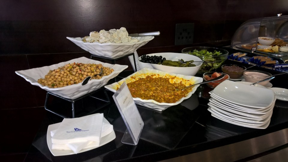 Baobab Business Lounge Johannesburg Buffet