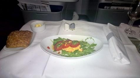 Lufthansa Business Class Dinner