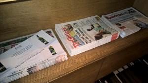 SLOW Lounge Johannesburg Newspapers