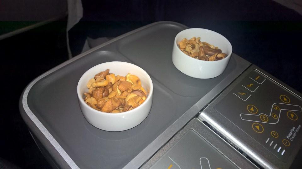 Lufthansa Business Class Snacks