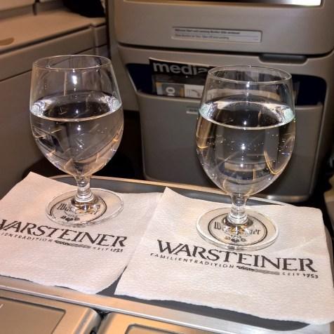 Lufthansa Business Class Drinks