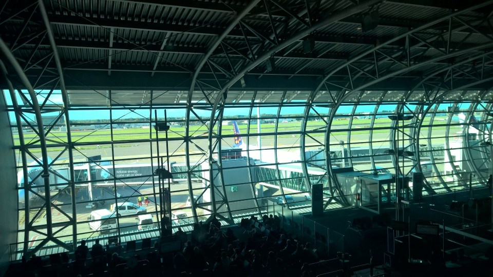 SAS Lounge Brussels View