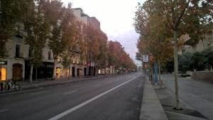 Running in Madrid Boulevard Serano