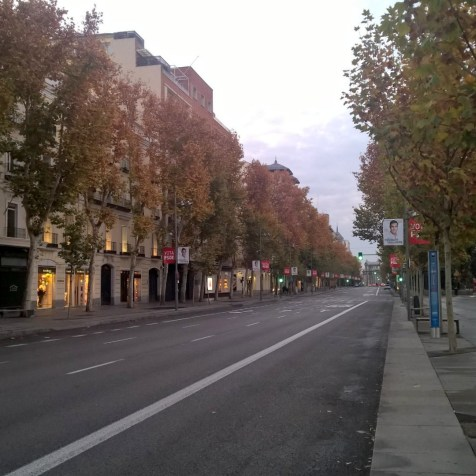 Running in Madrid Boulevard Serano