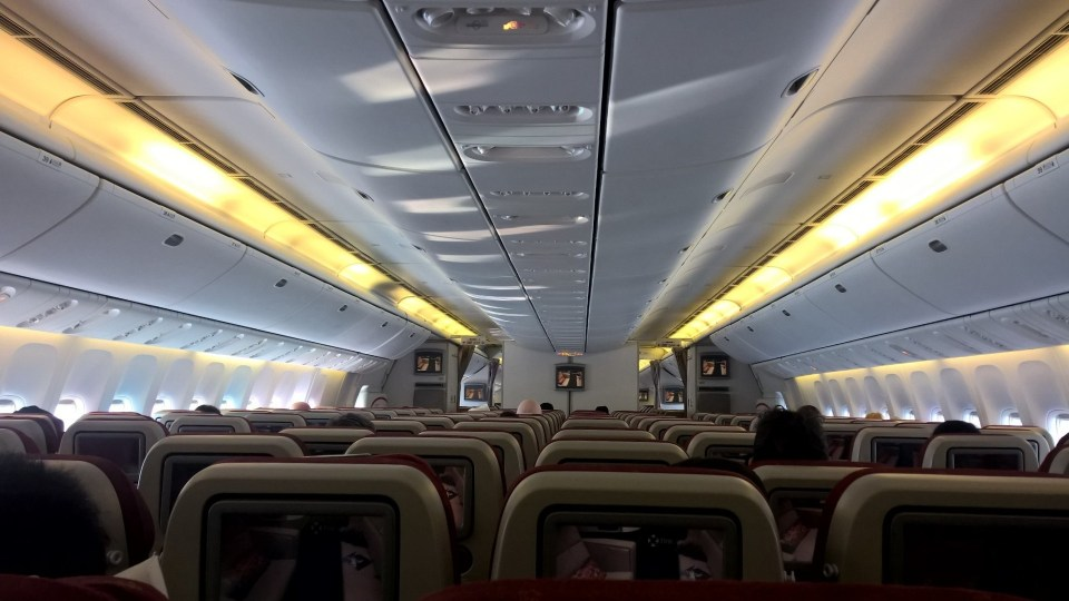 Etihad Airways Jet Airways Boeing 777 Economy Class