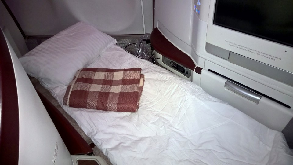 Jet Airways Business Class Bed