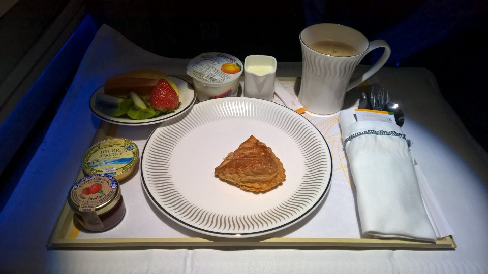 Jet Airways Business Class Breakfast