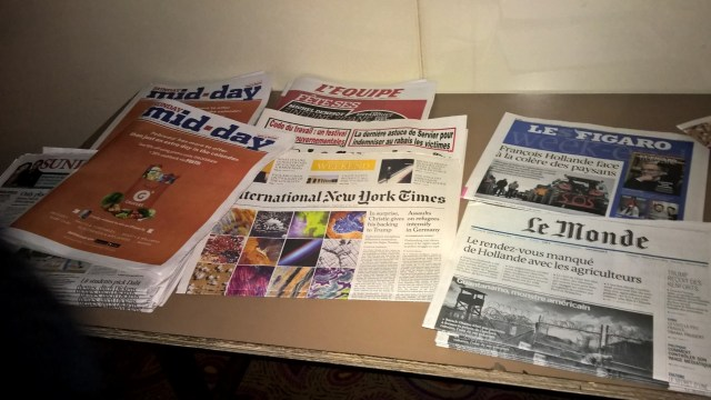 Air France Business Class Newspapers