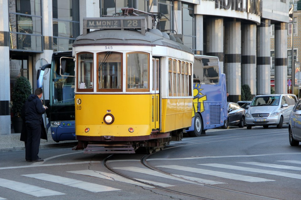 Historic trams like line 28 are very attractive for tourists