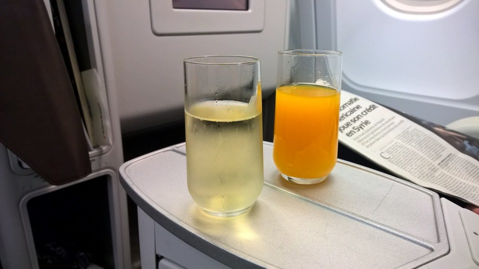 Air France Business Class Drinks