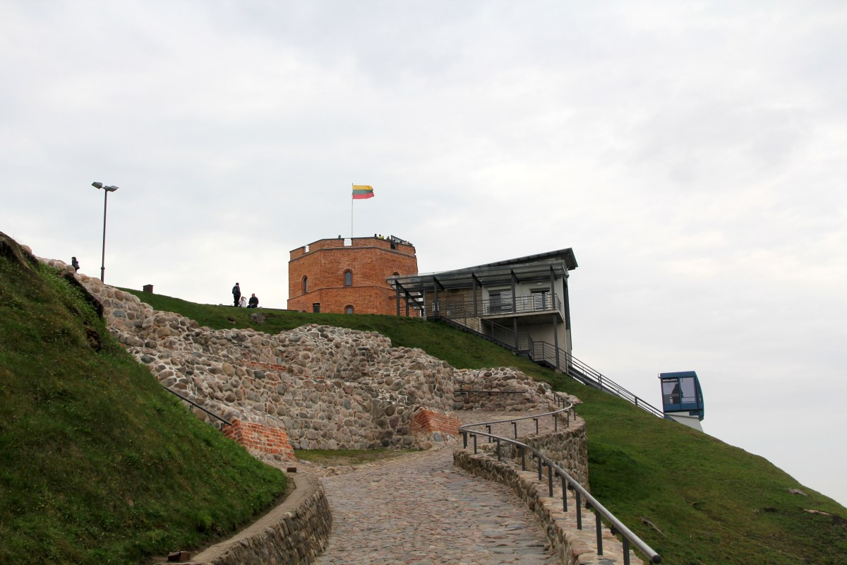 Way up to Castle Hill Vilnius