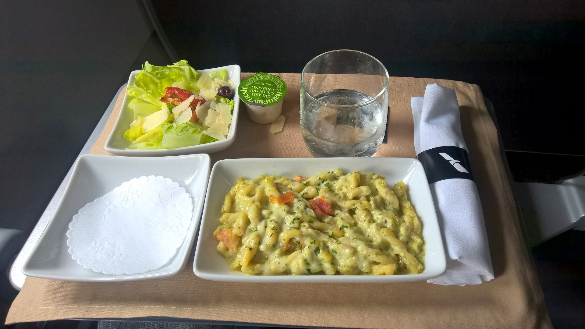 American Airlines regional First Class Lunch