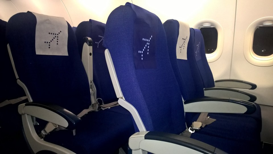 Economy Class in the IndiGo Airbus A320