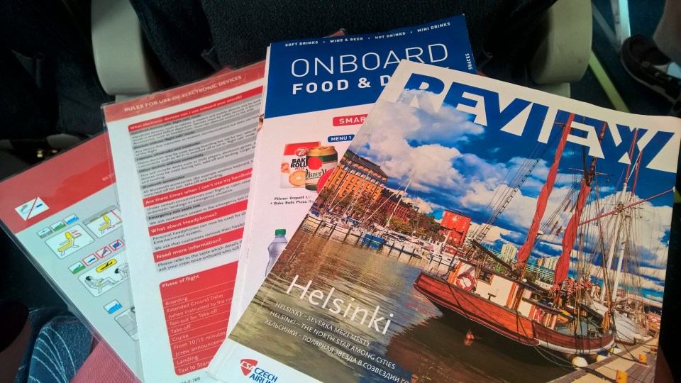 Board Magazine in the Czech Airlines Economy Class