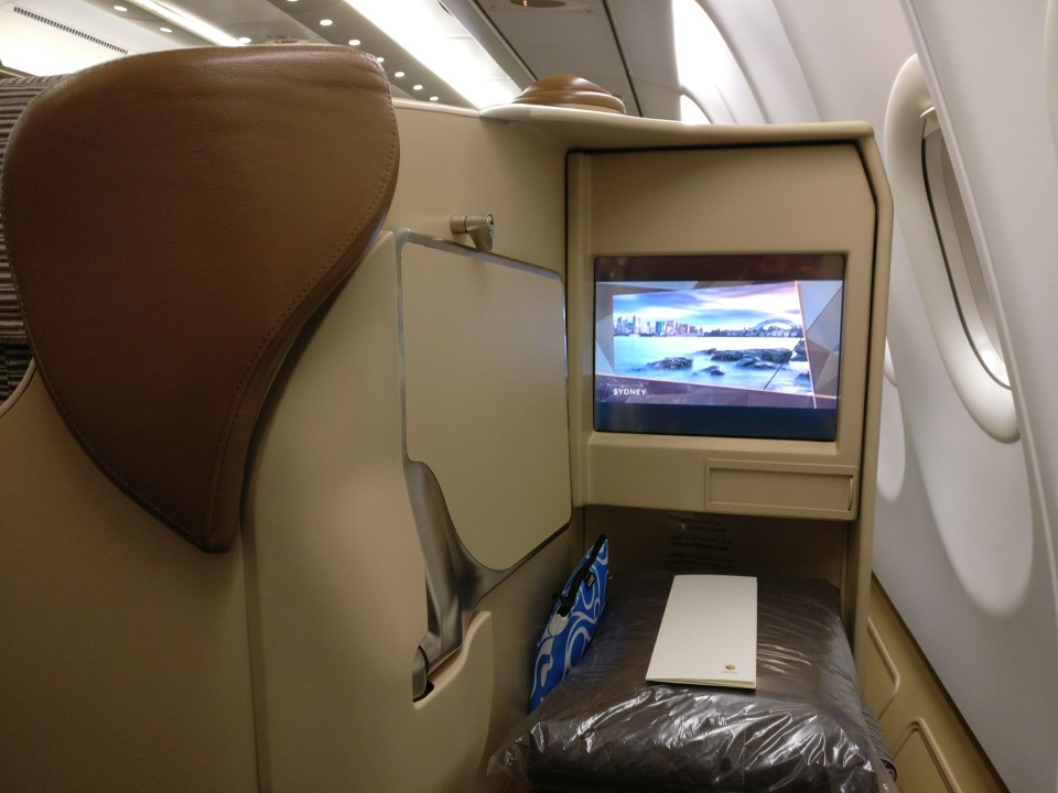 Etihad Airways Business Class Airbus A340-600