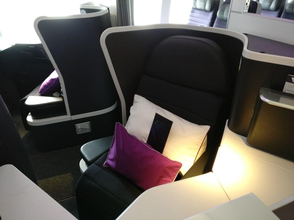 Virgin Australia Business Class Boeing 777 Seat