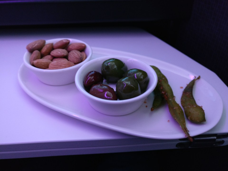 Virgin Australia Business Class Canapes