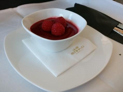 Etihad Airways Business Class Boeing 787 Lunch