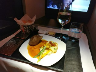 Etihad Airways Business Class Airbus A380 Catering