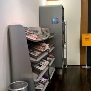 Lufthansa Senator Café Munich Newspapers