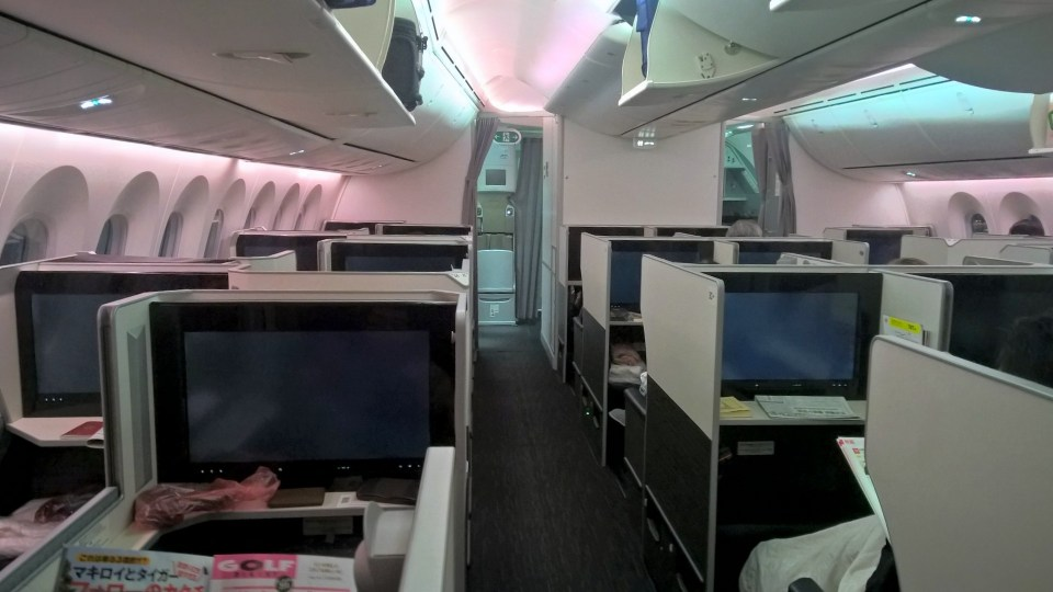 Japan Airlines Business Class Boeing 787 Cabin