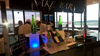 JAL First Class Lounge Tokyo Narita Sake Bar