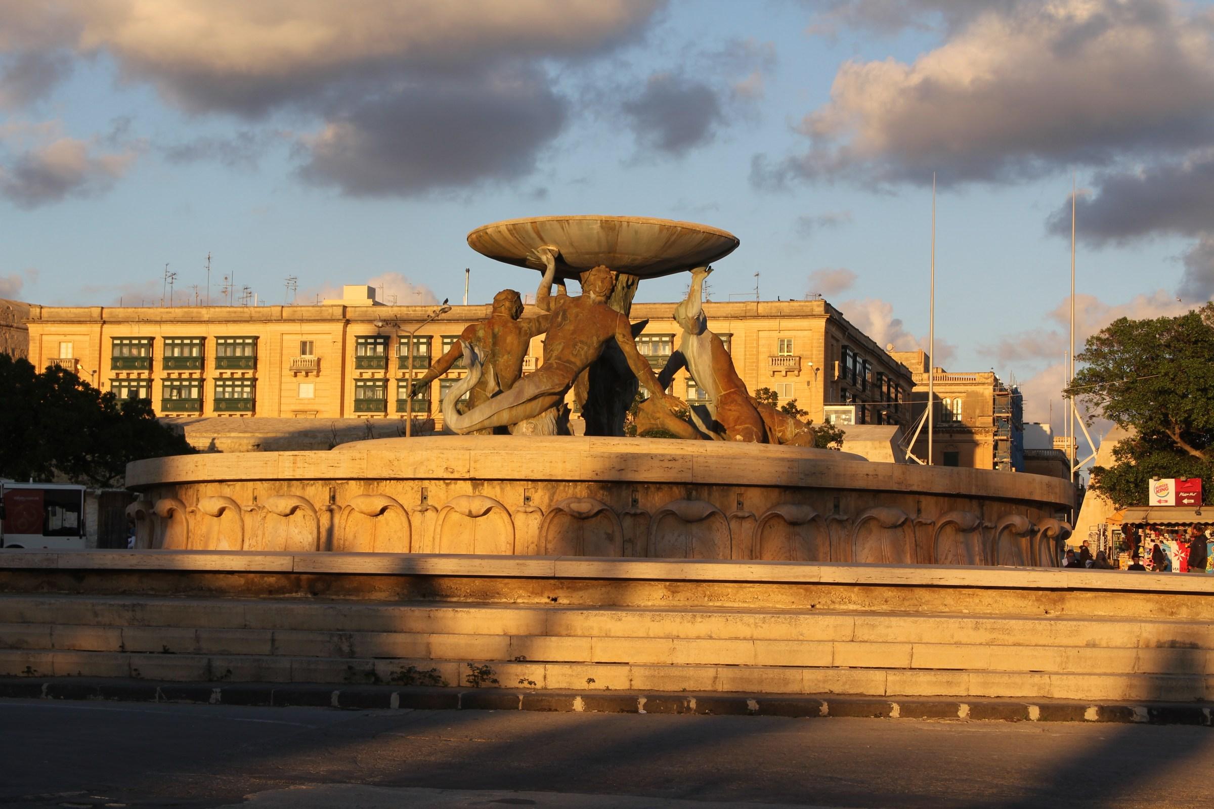 Valletta Triton Fountain
