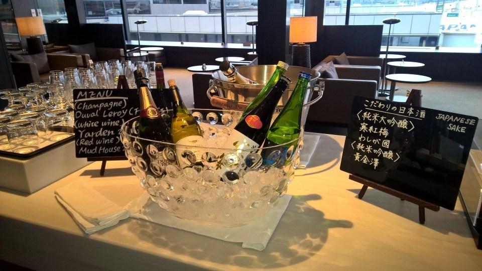 JAL First Class Lounge Tokyo Narita Satellite Buffet