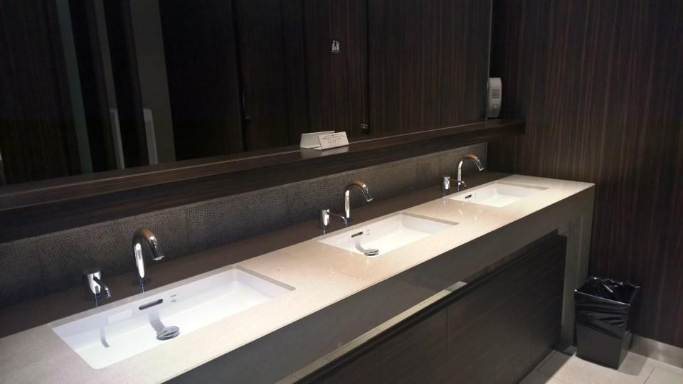 JAL First Class Lounge Tokyo Narita Satellite Washrooms