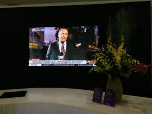 Virgin Australia Lounge Melbourne Television