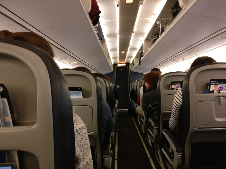 Air New Zealand domestic Prop Economy Class Cabin